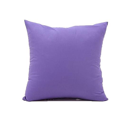 YUNJING Fundas para cojines Cojín de almohada de color puro ...