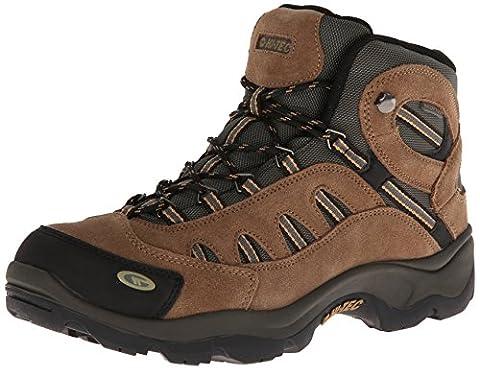 Hi-Tec Men's Bandera Mid Waterproof Hiking Boot, Bone/Brown/Mustard, 10 M US - Leather Mid Waterproof Boot