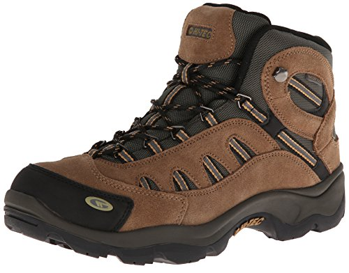 Hi-Tec Men's Bandera Mid Waterproof Hiking Boot, Bone/Brown/Mustard, 12 W US
