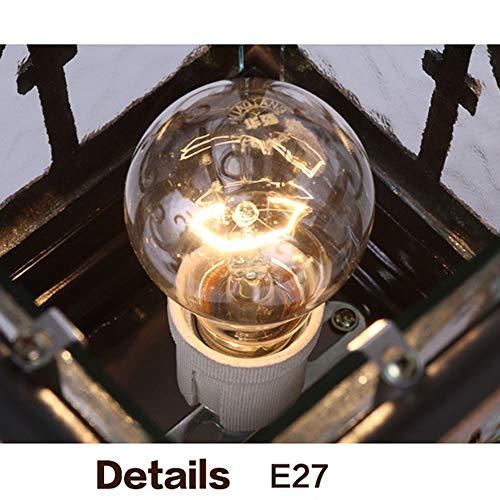European Waterproof Pillar Light, Column Head Light/Door Column Light/Outdoor Wall Lamp, Villa Wall Door Lamp, Garden Lamp (Color : Bronze 1) by Outdoor lighting (Image #5)