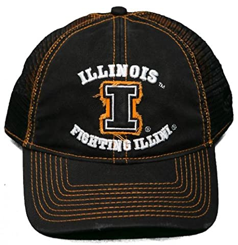 buy popular d3716 0a019 Image Unavailable. Image not available for. Color  NEW! University of Illinois  Illini Snap Back Hat 3D Embroidered Mesh Mesh Back Cap