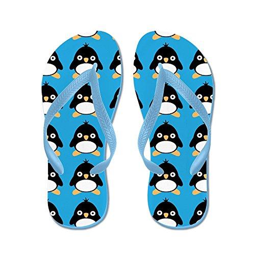 Cafepress Pingouin Oiseau - Tongs, Sandales String Drôle, Sandales De Plage Bleu Caraïbes
