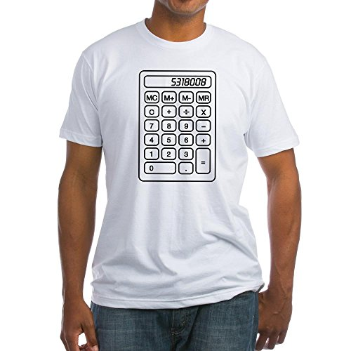 CafePress - Calculator Boobies T-Shirt - Fitted T-Shirt, Vintage Fit Soft Cotton Tee White ()