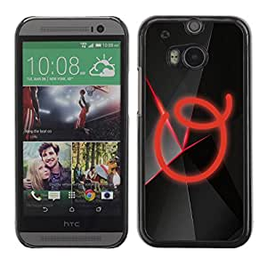 Paccase / SLIM PC / Aliminium Casa Carcasa Funda Case Cover para - O - HTC One M8