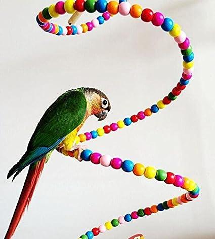 OMGO Hianiquaime Perchoir Flexible d'oiseaux Jouet Suspendu Balançoire Escalier Echelle pour Oiseaux Perroquets Perruches etc 80CM /100CM/150CM