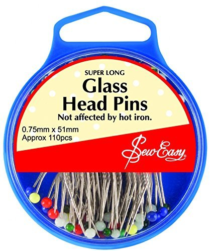 Sew Easy Pins 51mm - Glass Head Pins for Quilting/Patchwork by Sew Easy by Sew Easy