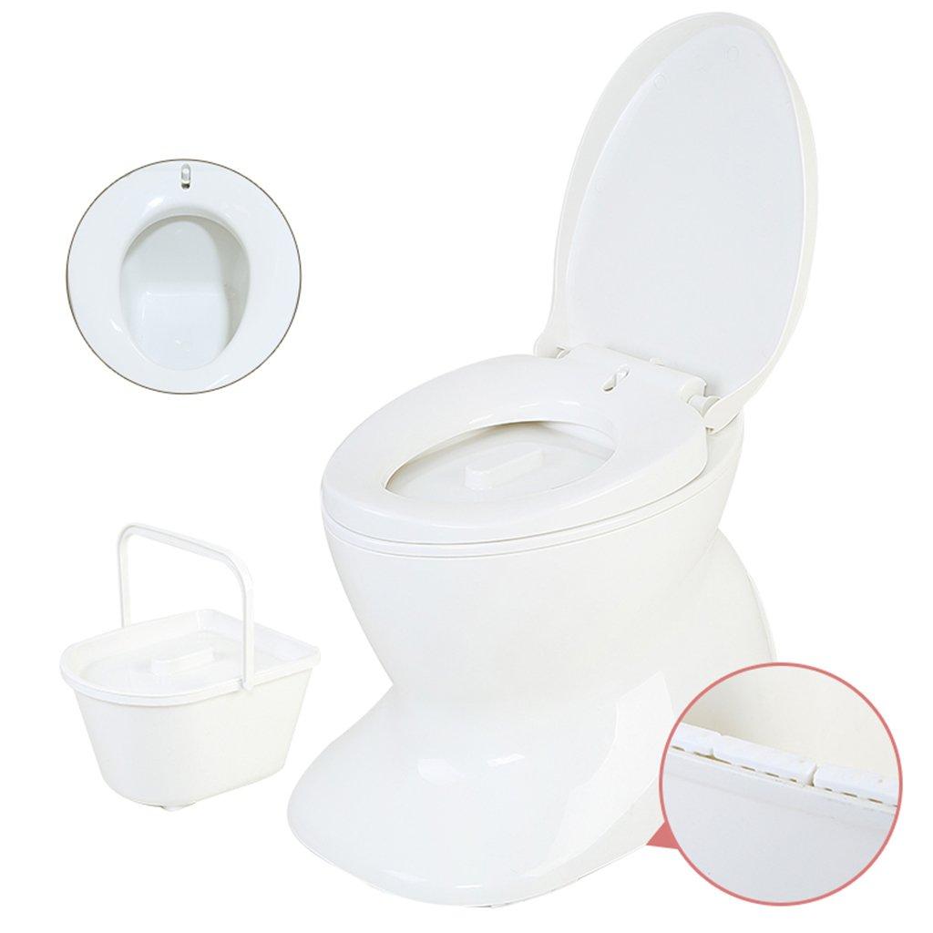 軽量で持ち運び可能なキャンプ用トイレコンパクトゴミは屋内屋外用に適していますキャンプキャビンのピクニック釣りと祭り白 B07CWSGWWZ