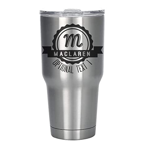 60cf71a629e Amazon.com | Personalized Etched 30oz Stainless Steel Insulated Tumbler:  Tumblers & Water Glasses