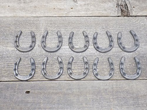 Midwest Craft House Small CAST Iron Horseshoes • Crafts Home DÉCOR, Horseshoe/Horse Shoe, Small Tiny NIKNAK - Pack of -