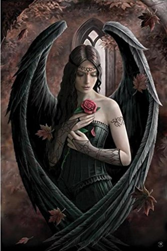 Anne Stokes Angel Rose Poster Art Print
