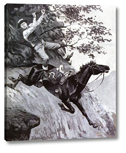 Tom Kicked Away The Stirrups and Grasped The Low Branch of a Live Oak Tree by Frederic Remington - 18