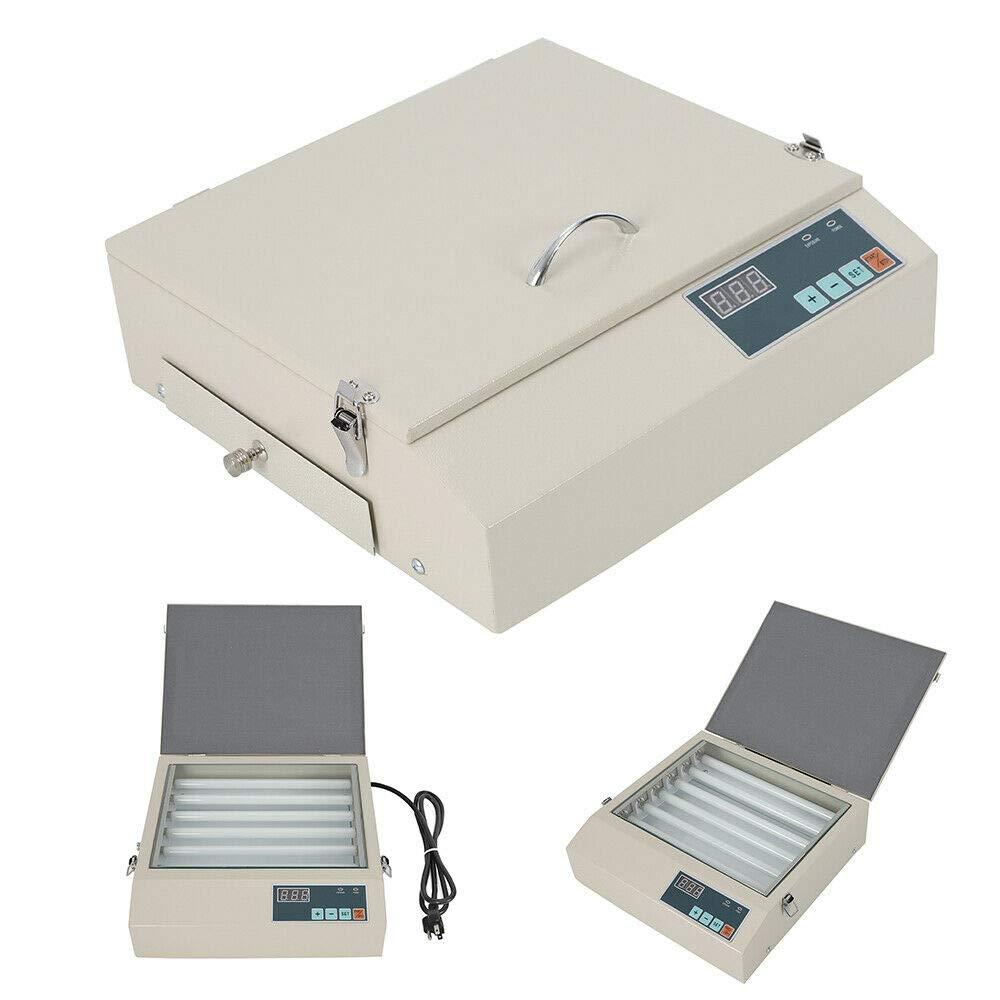UV Exposure Print Machine Portable Resin Plate Drawer Screen Printing Exposure Machine 6 Lamps Digital Trademarks Invitations Cards Printing Machine