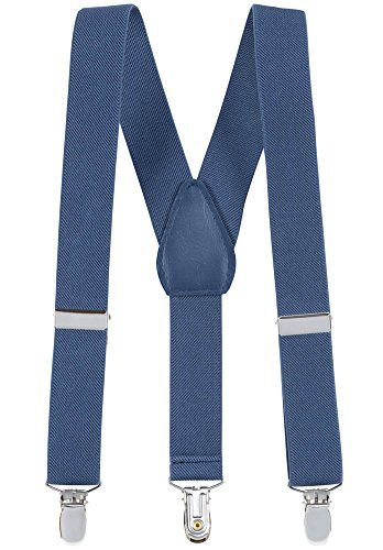 Suspenders for Kids - 1 Inch Suspender Perfect for Tuxedo - Denim Blue (size -
