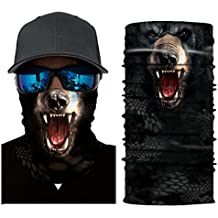 Auwer 3D Stretchable Face Shield Mask Cycling Motorcycle Head Scarf Ski Balaclava Headband for Outdoor Sun UV Protection