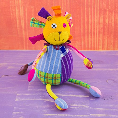 Mr. Ellie Pooh Fabric Patchwork Doll Lion ~ Fabric Tag Mane ~ Hand Made in Sri Lanka by Local Artisans ~ Safe to Chew! - Pooh Patchwork