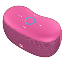 DOSS SoundBox XS Bluetooth Speaker, Portable Wireless Bluetooth 4.0 Touch Speakers with 10W HD Sound, Microphone, for Echo Dot iPhone iPad Samsung Tablet, Ideas for Girls Pink
