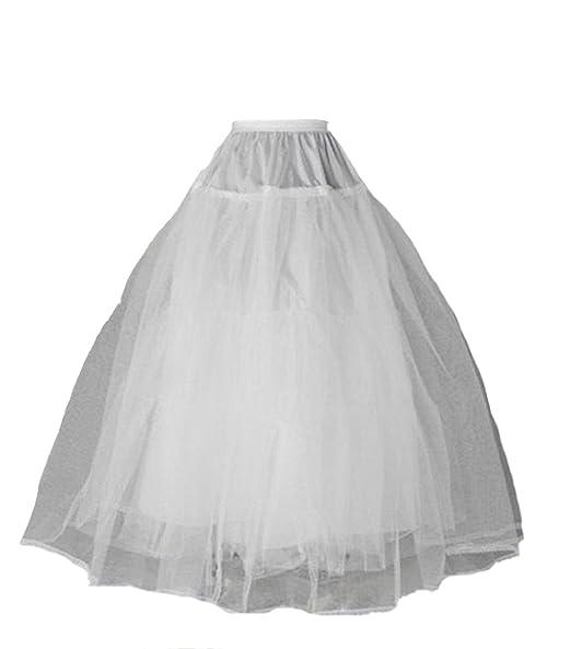 FNKSCRAFT enagua de la boda accesorios de la boda Enaguas Falda paseo  nupcial de 3 capas 35a2016627d0