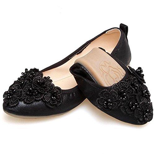 Taoffen Damesschoen Loafer Schoenen Zwart
