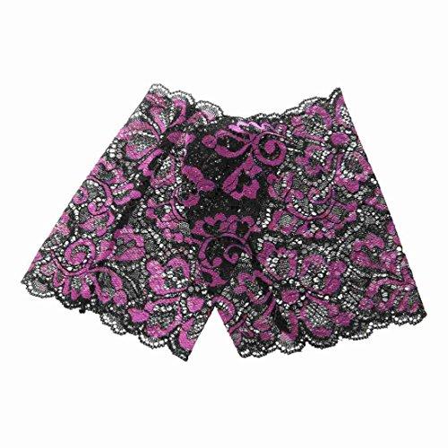 (Sock - TOOGOO(R)Women Stretch Lace Boot Cuffs Flower Leg Warmers Lace Trim Soft Toppers Socks purple)