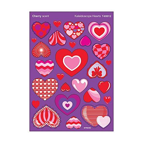 (TREND enterprises, Inc. Kaleidoscope Hearts/Cherry Stinky Stickers, Mixed Shapes )