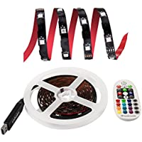 LED Light Strip Kit, Lahoku SMD5050 RGB Color Changing 118inch 5V 90LEDs USB Powered TV Backlight with 28Key RF Remote For HDTV Home Theater LCD Desktop PC