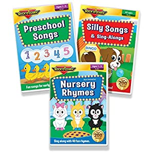 Preschool Songs for Kids 3 DVD Collection – Nursery Rhymes, Preschool Songs, and Silly Songs