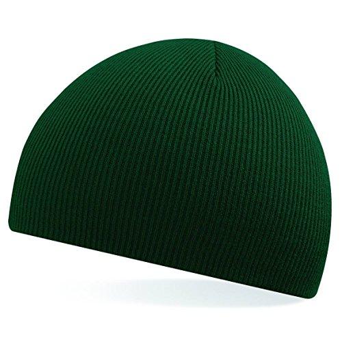 Tire de la gorrita tejida de Beechfield - elegir entre 11 colores verde oscuro