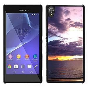 Pulsar Snap-on Series Teléfono Carcasa Funda Case Caso para Sony Xperia T3 , Coucher de soleil mer océan romantique Eté Nature