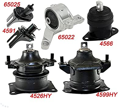 6pcs Engine Motor Mount /& Trans Mount for Acura TL 3.2L 3.5L 2007 2008 for AT