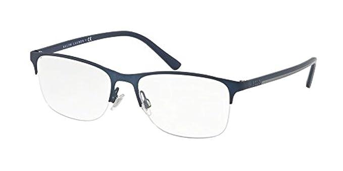 Ralph Lauren POLO 0PH1176 Monturas de gafas, Matte Blue, 56 para ...