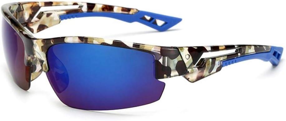 Gafas de Sol polarizadas Retro Medio Marco clásico para Hombre y Mujer, Montar al Aire Libre Deportes Espejo Hombres y Mujeres Gafas de protección UV