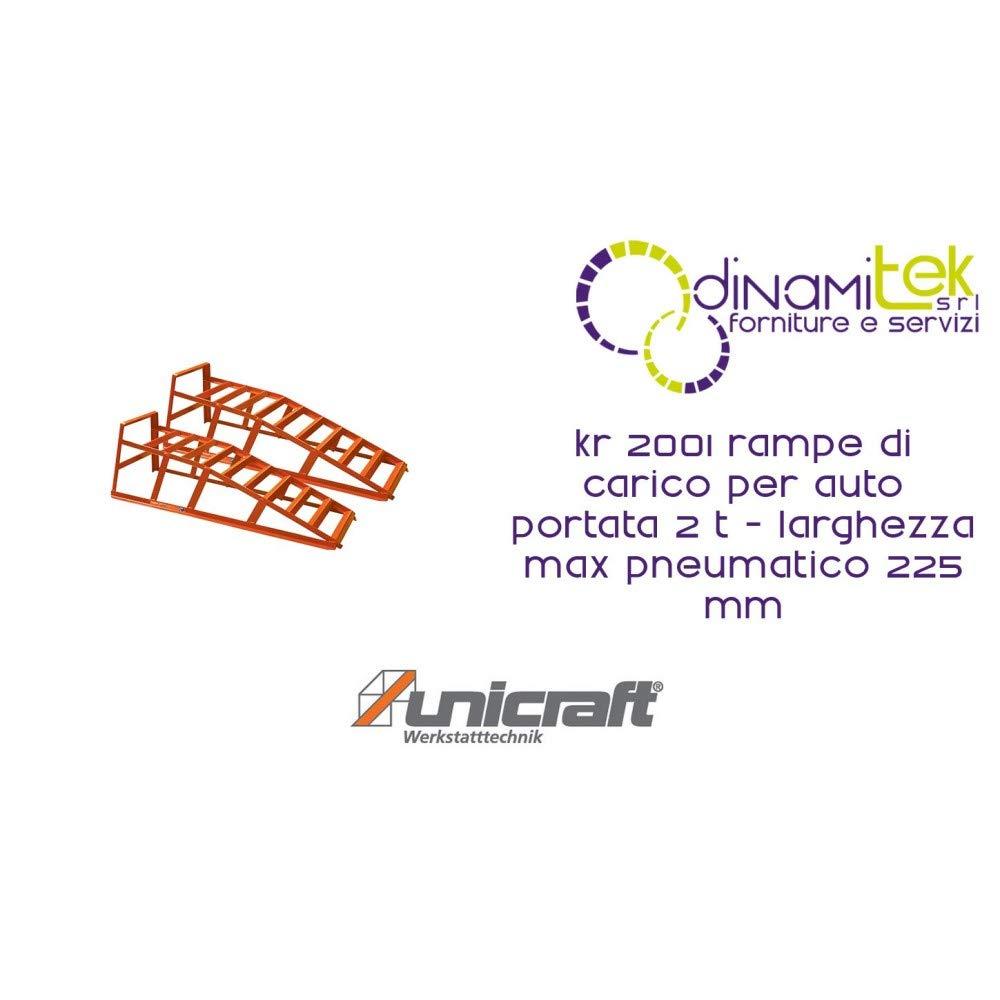 UNICRAFT Rampe Di Carico Per Auto Modello KR 2001 Portata 2 T Larghezza Max Pneumatico 225 Mm