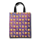 GWD Housewares Pizza Hamburgers French Fries Reusable Carrying Bag Shopping Bags Party Bags Retail Bags Craft Bags