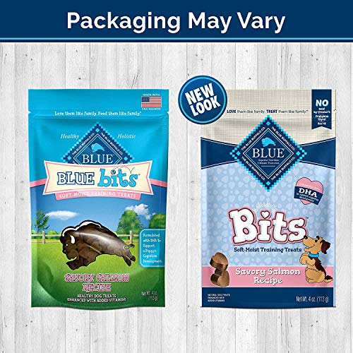 Blue-Pack-of-4-Buffalo-Treats-Bits-Dog-Treats-Pouches-4-Flavors-Savory-Salmon-Tasty-Chicken-Tender-Beef-and-Tempting-Turkey-4-oz-Blue