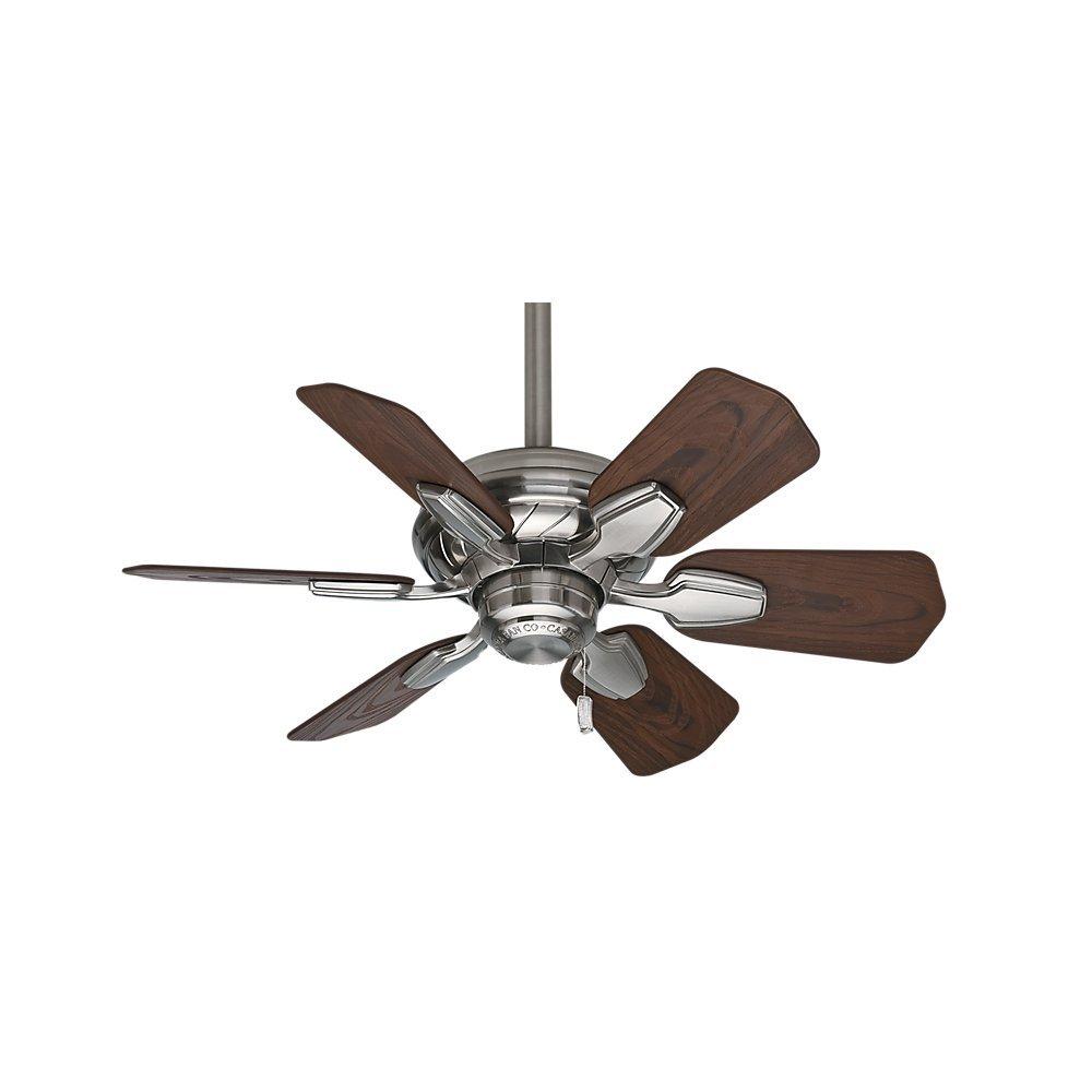 Casablanca 59524 Wailea 31 Inch Brushed Nickel Ceiling Fan With Six Craftsman 5 Wood Blade Wiring Dark Walnut Blades