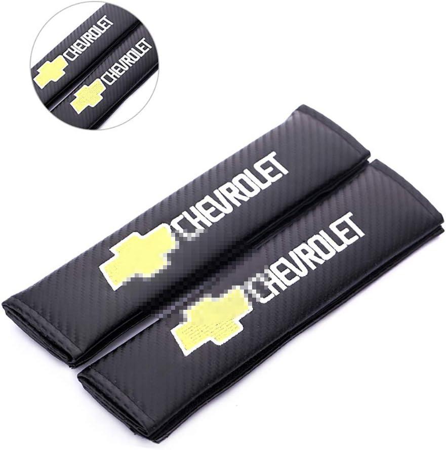 L/&U Carbon-Faser-Stickerei-Auto-Sicherheitsgurt-Abdeckungen Leder Schulterpolster,for Peugeot