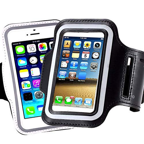 [2pack] iPhone X /8/7 / 6S / 6 / 5S / 5c Sports Armband,CaseHQ Case-Great for Running, Workouts or Any Fitness Activity,for Stores Cash, Cards and Keys. Fits Smartphone 4.5