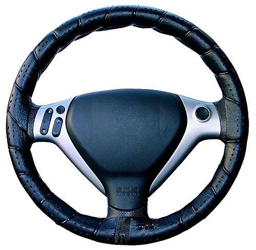 ERMA Funda de volante para coche, modelo CLÁ SSICA TURISMO, Cubre volante de coche, color negro. modelo CLÁSSICA TURISMO 0842034511254