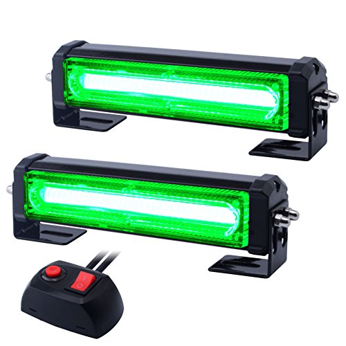Strobe Green (WOWTOU Emergency Green Grille Light Head Surface Mount, 16W Bright Linear LED)