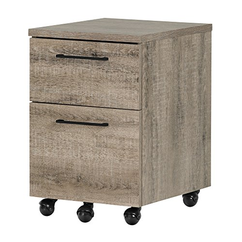 South Shore Munich 2-Drawer Mobile File Cabinet, Weathered Oak by South Shore