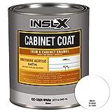 painting kitchen cabinets white INSL-X CC550109A-44 Cabinet Coat Enamel, Satin Sheen Interior Paint 1 Quart White