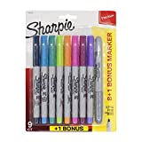 #4: Sharpie Ultra Fine Permanent Markers with Fine Point Marker, Assorted Pack of 8 + 1 Silver