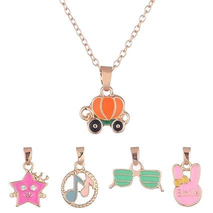 9c3530e2b83c Set de joyas para niñas pequeñas Calabaza Gafas Conejos Niñas con ...