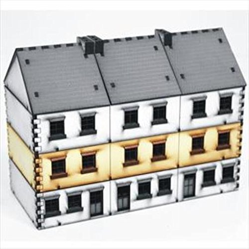 Europe At War - Buildings 15mm Terrace Houses - Type 2, Add-On (Pre-Painted)