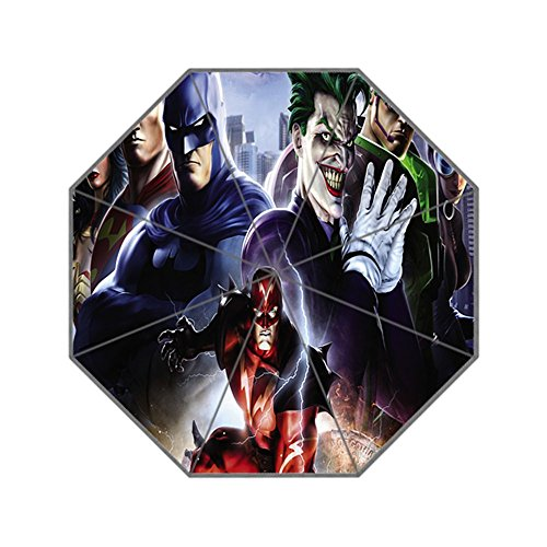 ScottShop Joker Batman Hero Superman Wonder Woman Custom Generic Foldable Umbrella Sun Rain - Woman Wonder Umbrella