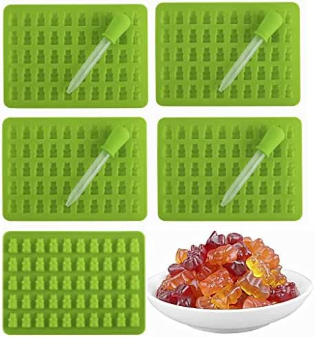 5 - 50 Cavity (250 Total Bears)Gummy Bear Mold + 5PS Dropper for Healthy Gummie Bear Making