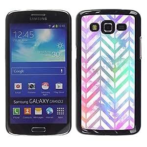 Caucho caso de Shell duro de la cubierta de accesorios de protección BY RAYDREAMMM - Samsung Galaxy Grand 2 SM-G7102 SM-G7105 - Shiny Iridescent White Teal