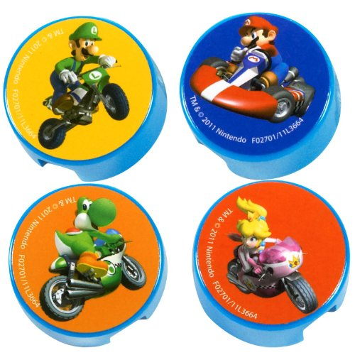 Mario Kart Wii Pencil Sharpeners (4 count) Party Accessory, Health Care Stuffs