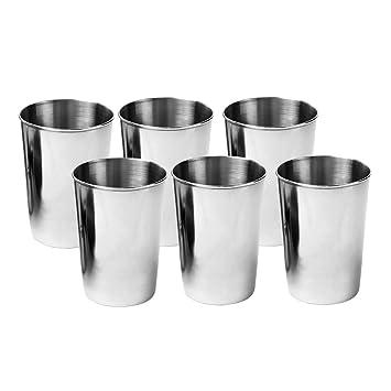perfk Vasos de Agua de Acero Inoxidable Apilables Bebiendo ...