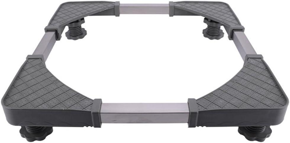 XXGI Marco de la Base de la Lavadora Rueda Universal móvil Altura de la Bandeja del Soporte de Acero Inoxidable (7.5-9.5Cm) Expansión Universal automática